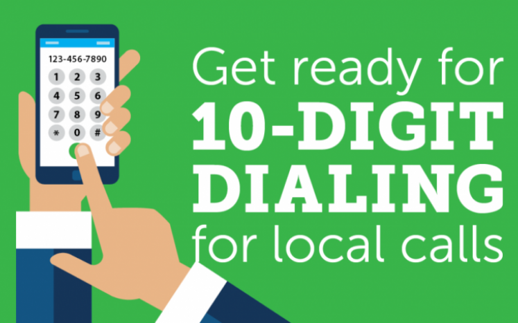 10-digit dialing graphic